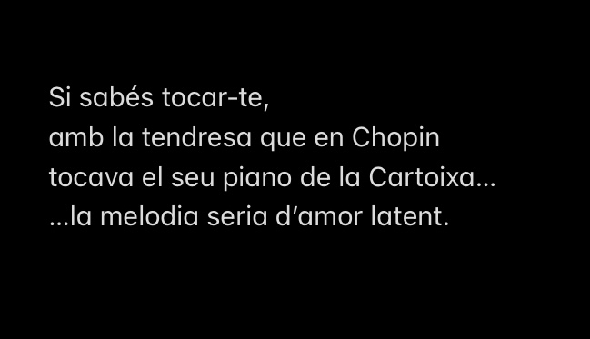Si fos en Chopin…