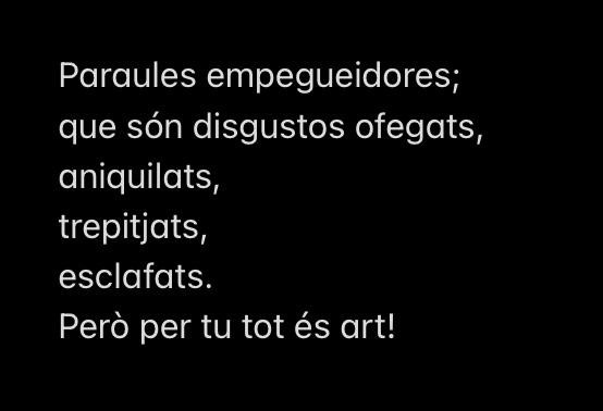 Per tu tots és art!